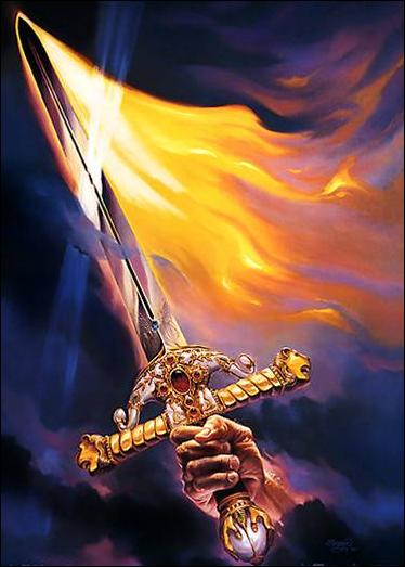Resultado de imagen de lucha de espadas arcangelicas