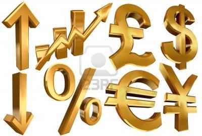 11810582-de-oro-simbolos-del-euro-libra-economia-del-dolar-yen-flechas-por-ciento-y-las-barras-de-estadistica