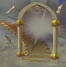 portal escalera dorado