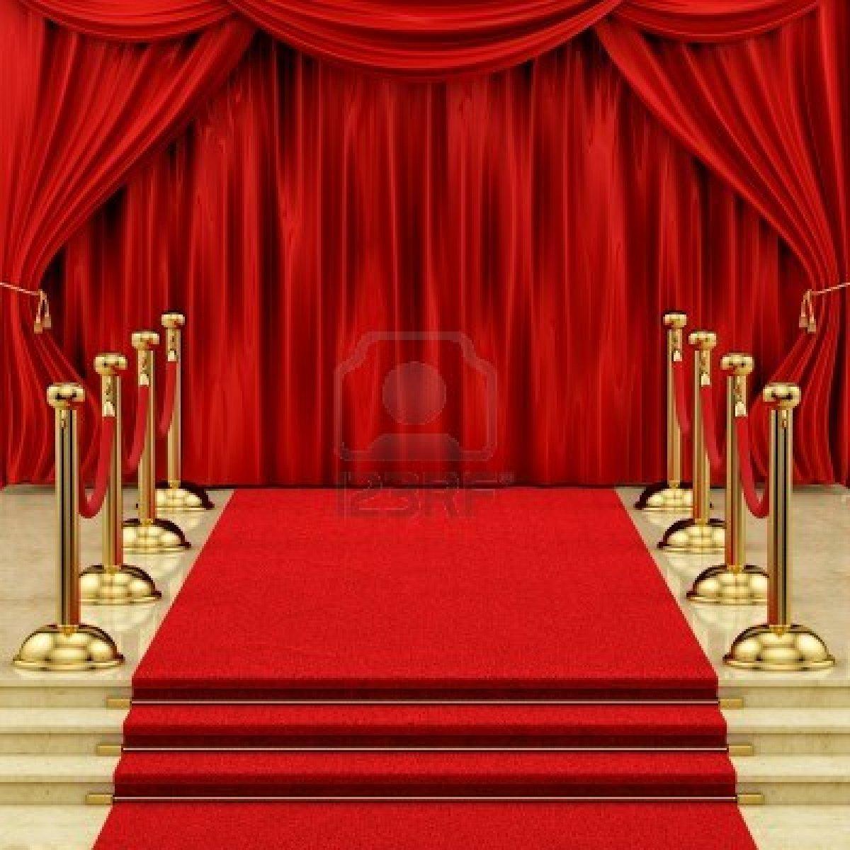 16221566 rinde de una alfombra roja con los candeleros de for Alfombra persa roja