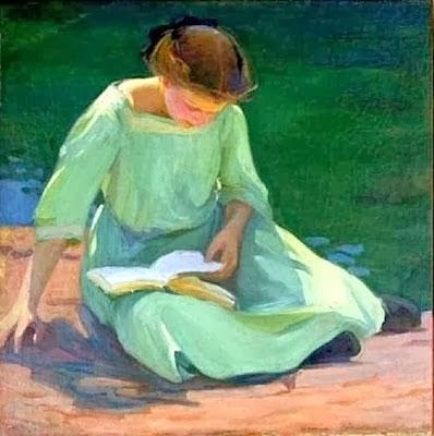 Colburn, Elanor (1866-1939) The green dress