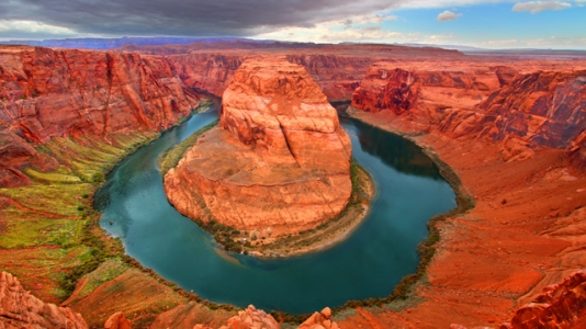 The Colorado River's famous Horseshoe Bend.