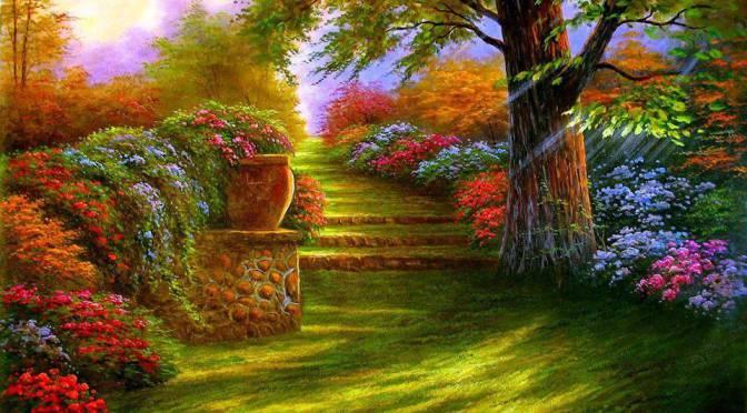 Pergamino de essen mi coraz n es un jard n llamado ed n for Jardin del eden