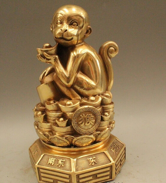 Details-about-8-Chinese-Fengshui-Brass-Zodiac-font-b-Year-b-font-font-b-Monkey-b