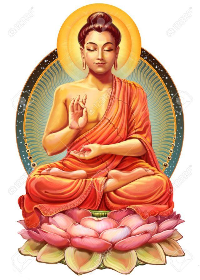 44698446-ilustración-con-buda-en-la-meditación-ilustración-de-la-trama